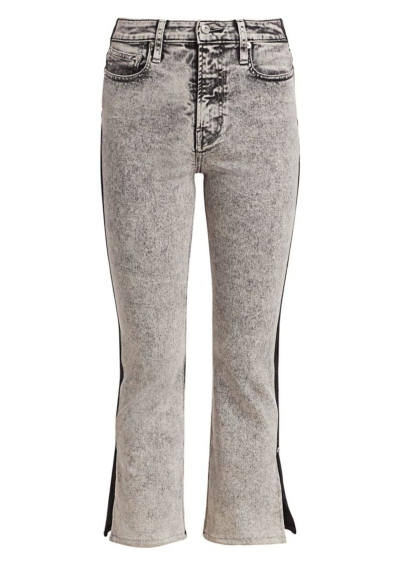 Proenza Schouler Colorblock Split Kick Flare Jeans