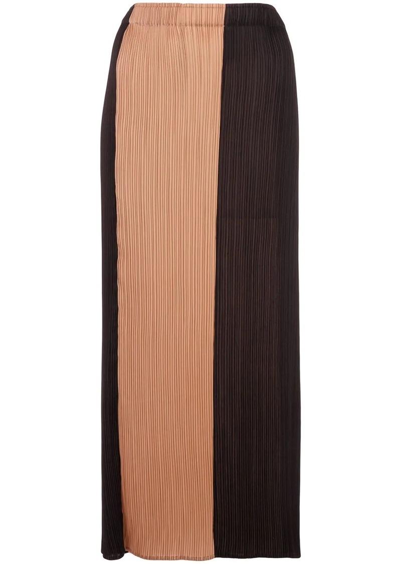 Proenza Schouler colour-block plissé high-waisted skirt