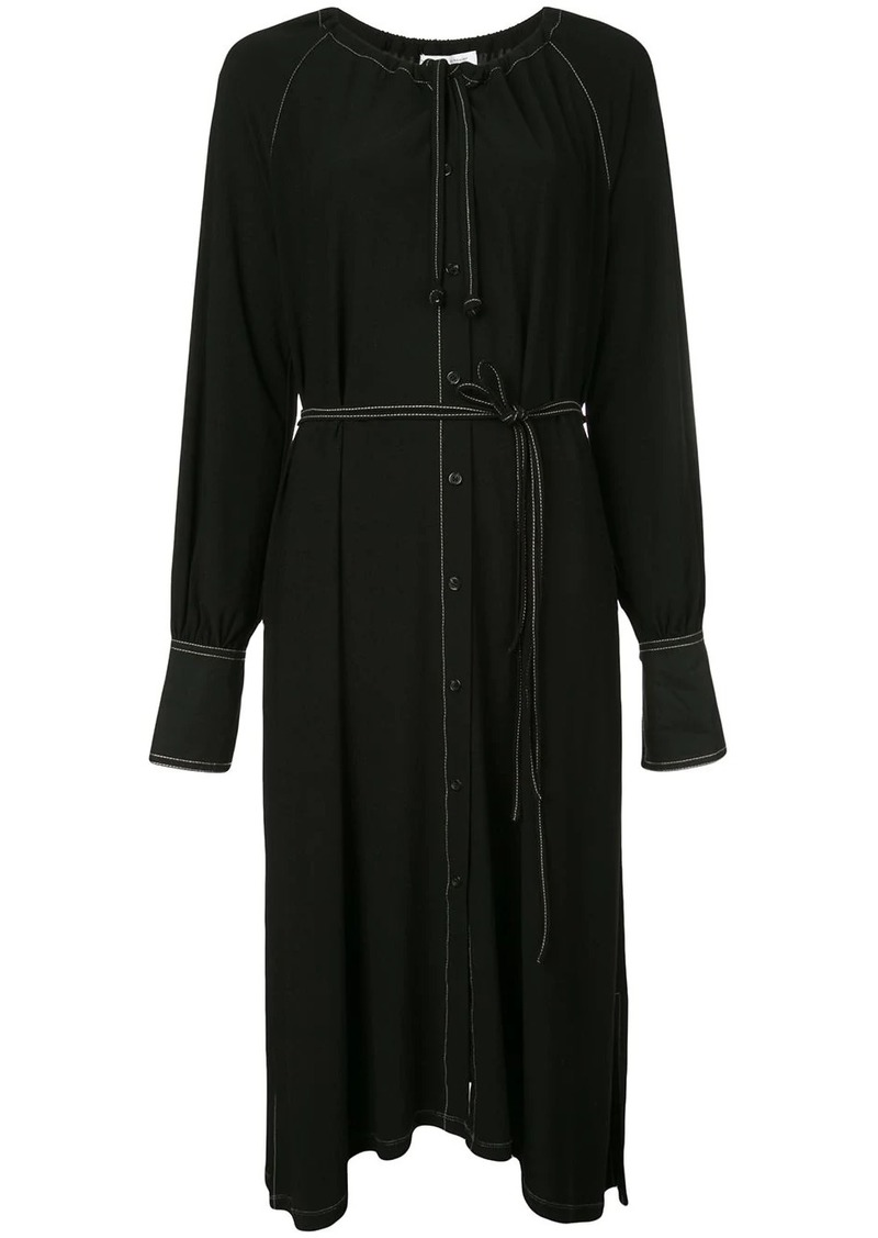 Proenza Schouler Matte Jersey Long Sleeve Dress
