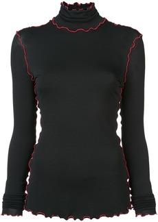 Proenza Schouler contrast-trim fitted sweater