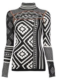 Proenza Schouler contrast turtle-neck sweater