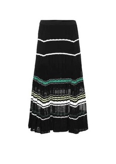 Proenza Schouler Cotton and silk-blend midi skirt