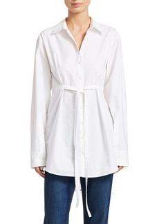 Proenza Schouler Cotton Poplin Tie-Waist Shirt