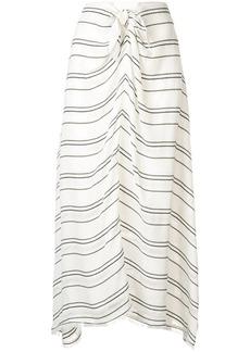 Proenza Schouler Crepe Stripe Tied Skirt