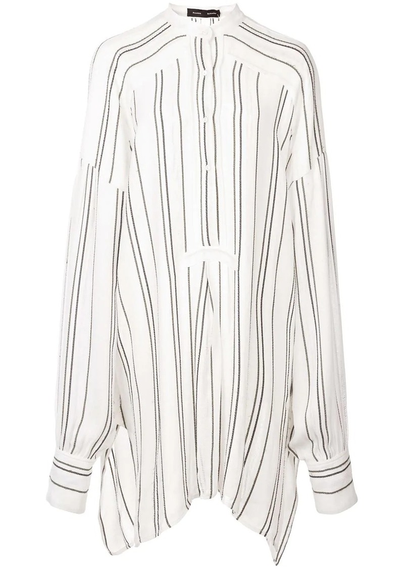 Proenza Schouler Crepe Striped Shirt