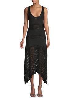 Proenza Schouler Crochet Asymmetric Dress