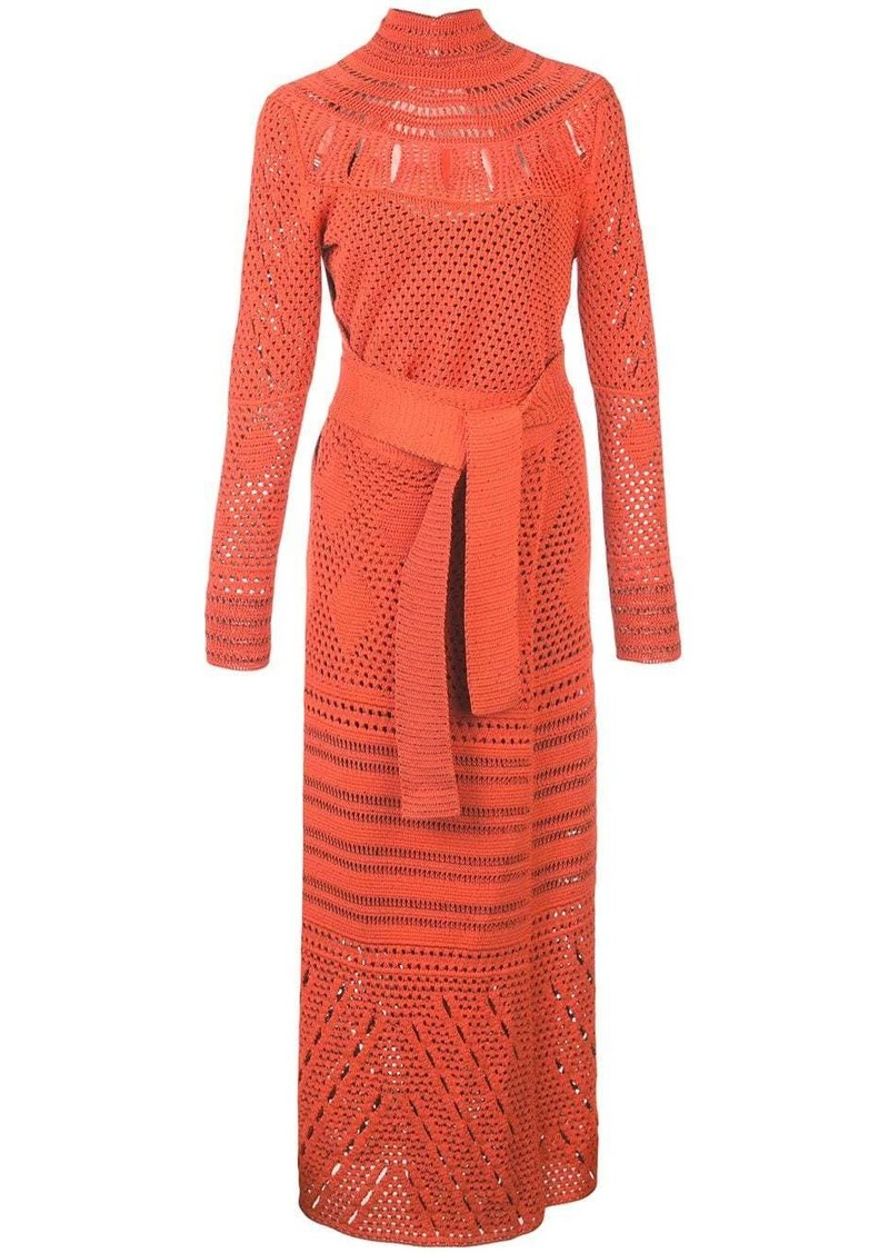 Proenza Schouler Crochet Crewneck Dress