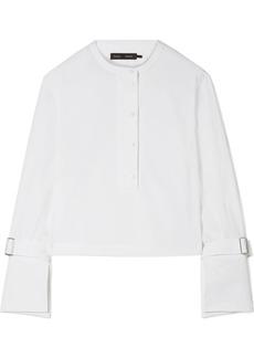 Proenza Schouler Cropped Stretch-cotton Poplin Shirt