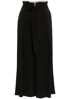 Proenza Schouler cropped wide leg belted trousers