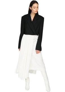 Proenza Schouler Cropped Wool Twill Bolero Jacket
