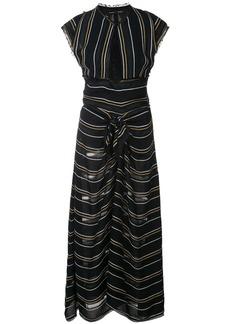 Proenza Schouler Crêpe Striped Tied Dress