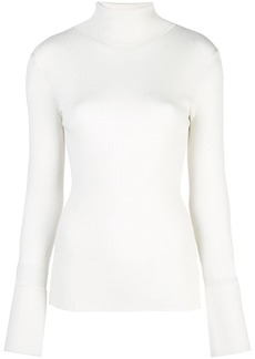 Proenza Schouler Cuffed Knit Turtleneck Top