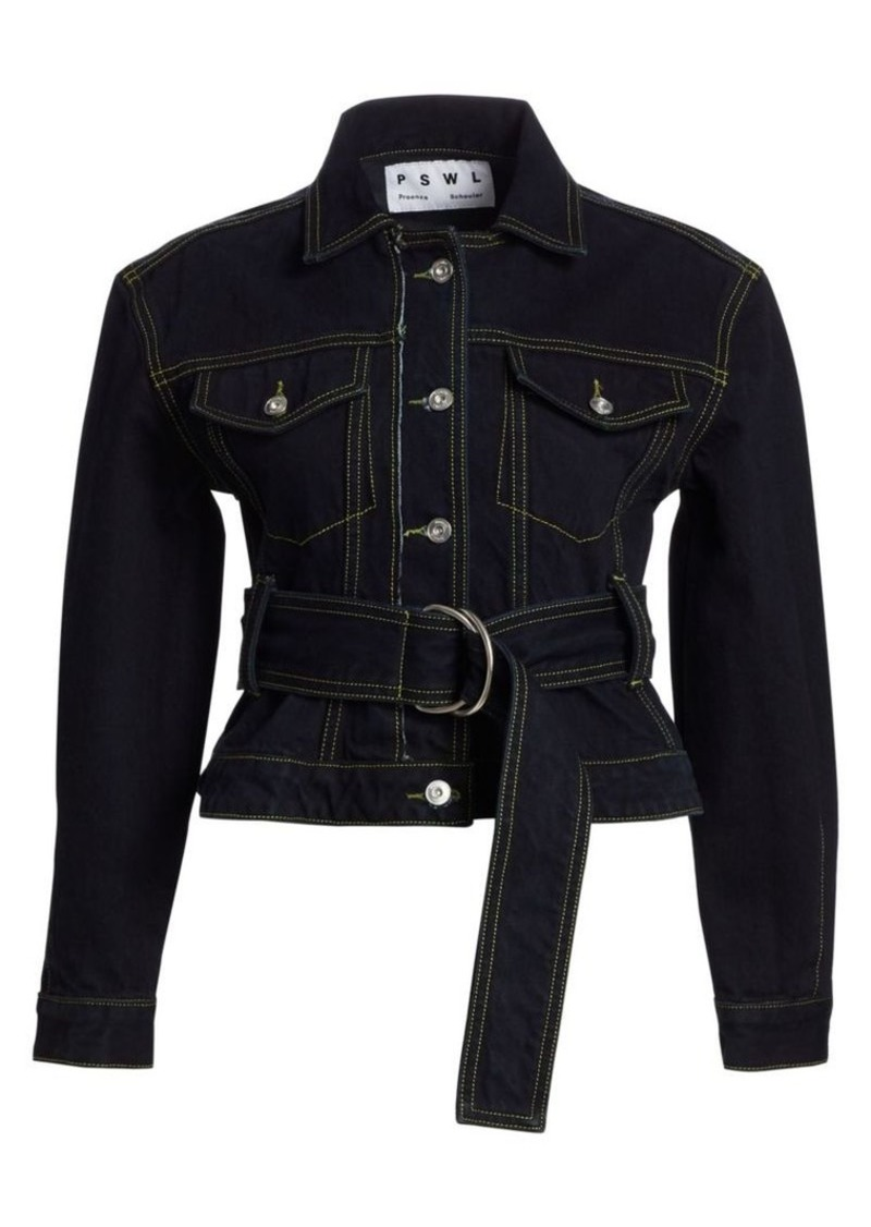 Proenza Schouler D-Ring Belted Denim Jacket
