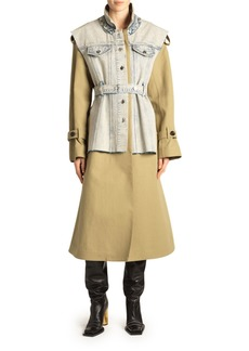 Proenza Schouler Denim Vested Trench Coat