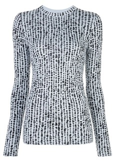Proenza Schouler dot jacquard knitted top