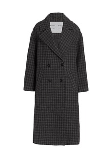 Proenza Schouler Double-Breasted Plaid Wool-Blend Coat