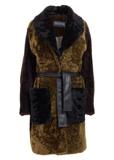 Proenza Schouler Double Breasted Shearling Car Coat
