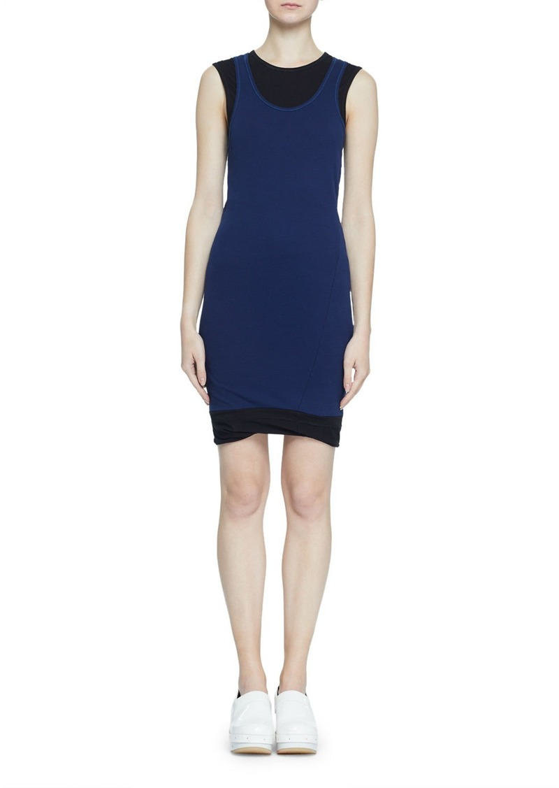 Proenza Schouler Double-Layer Fine Rib Jersey Tank Dress