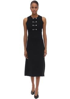 Proenza Schouler Double Weave Viscose Crepe Midi Dress