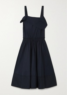 Proenza Schouler Draped Cotton-poplin Midi Dress