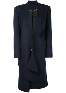 Proenza Schouler Draped Plaid Long Coat
