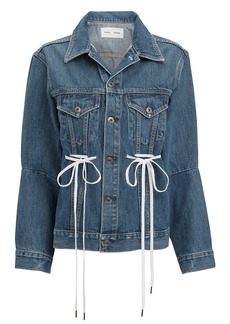Proenza Schouler Drawstring Denim Jacket