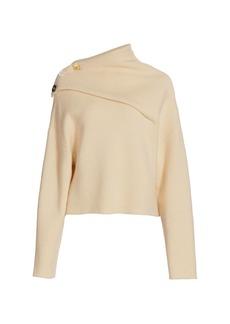 Proenza Schouler Eco Cashmere Folded Mockneck Knit Sweater