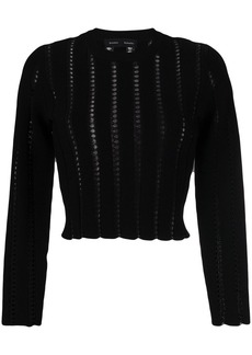 Proenza Schouler embroidered cropped sweater