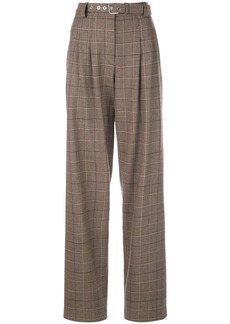 Proenza Schouler Exaggerated Plaid Suiting Pants