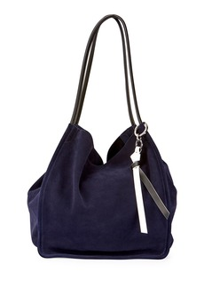 Proenza Schouler Extra-Large Suede Tote Bag  Blue