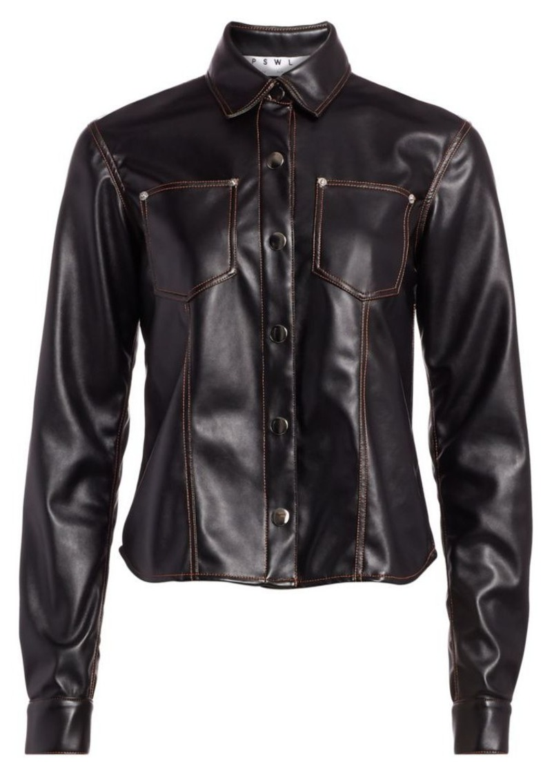Proenza Schouler Faux Leather Shirt