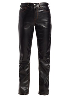 Proenza Schouler Faux Leather Straight Pants