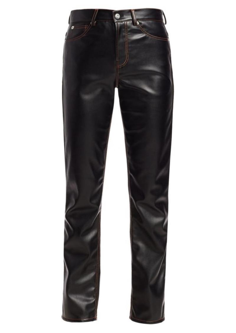 Proenza Schouler Faux Leather Straight Pants