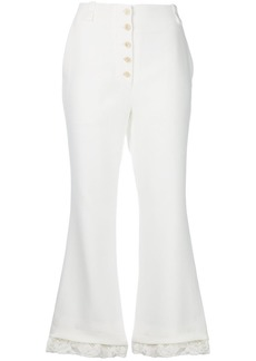 Proenza Schouler flared cropped trousers