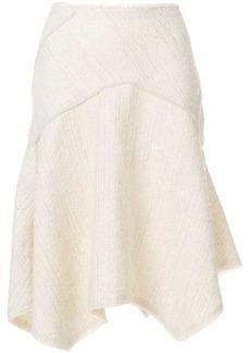 Proenza Schouler flared textured skirt