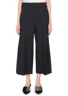 Proenza Schouler Flat-Front Wide-Leg Cropped Culotte Pants