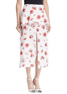 Proenza Schouler Float Poppy Jacquard Skirt with Peplum