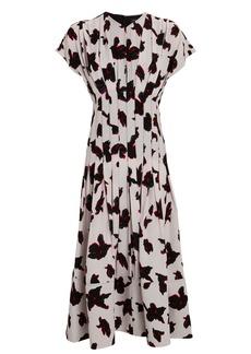 Proenza Schouler Floral Georgette Midi Dress