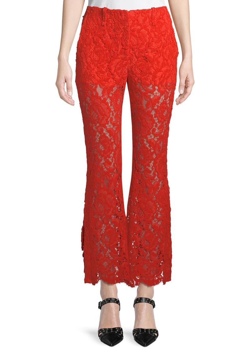 Proenza Schouler Floral-Lace Flared Pants