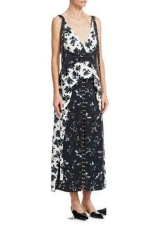 Proenza Schouler Floral Lace Peplum Dress