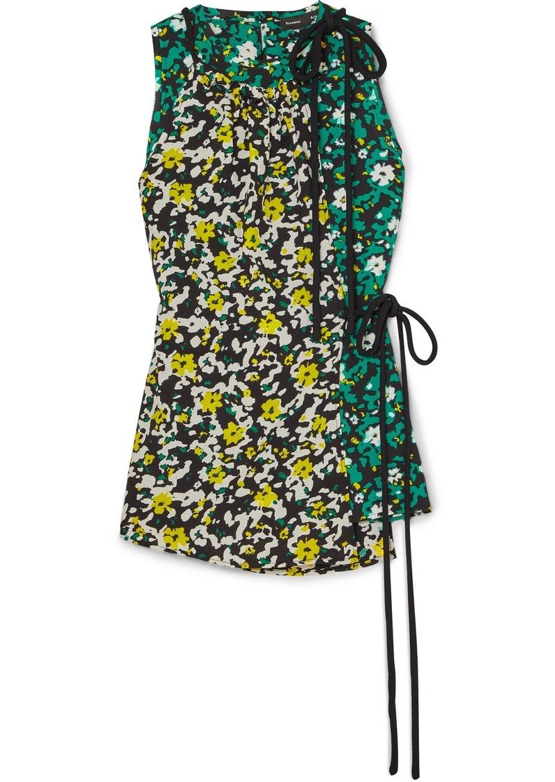 Proenza Schouler Floral-print Crepe Top