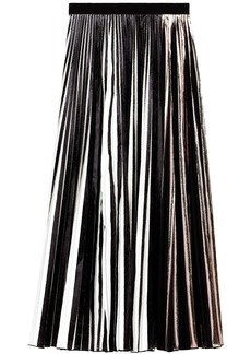 Proenza Schouler foil pleated skirt