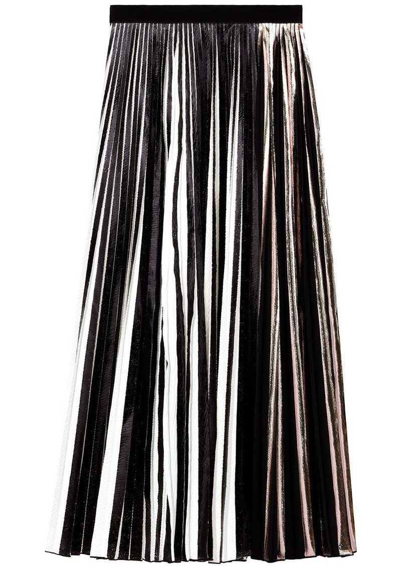 Proenza Schouler foil pleated skirt