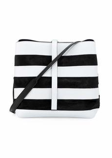 Proenza Schouler Frame Striped Leather & Calf Hair Shoulder Bag