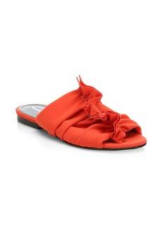 Proenza Schouler Frayed Crepe Flat Sandals