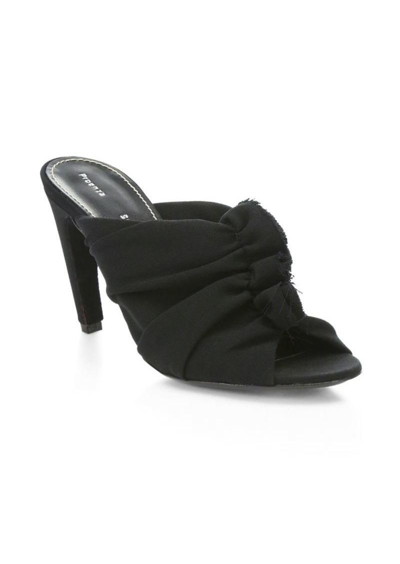 Proenza Schouler Frayed Crepe Mule Sandal