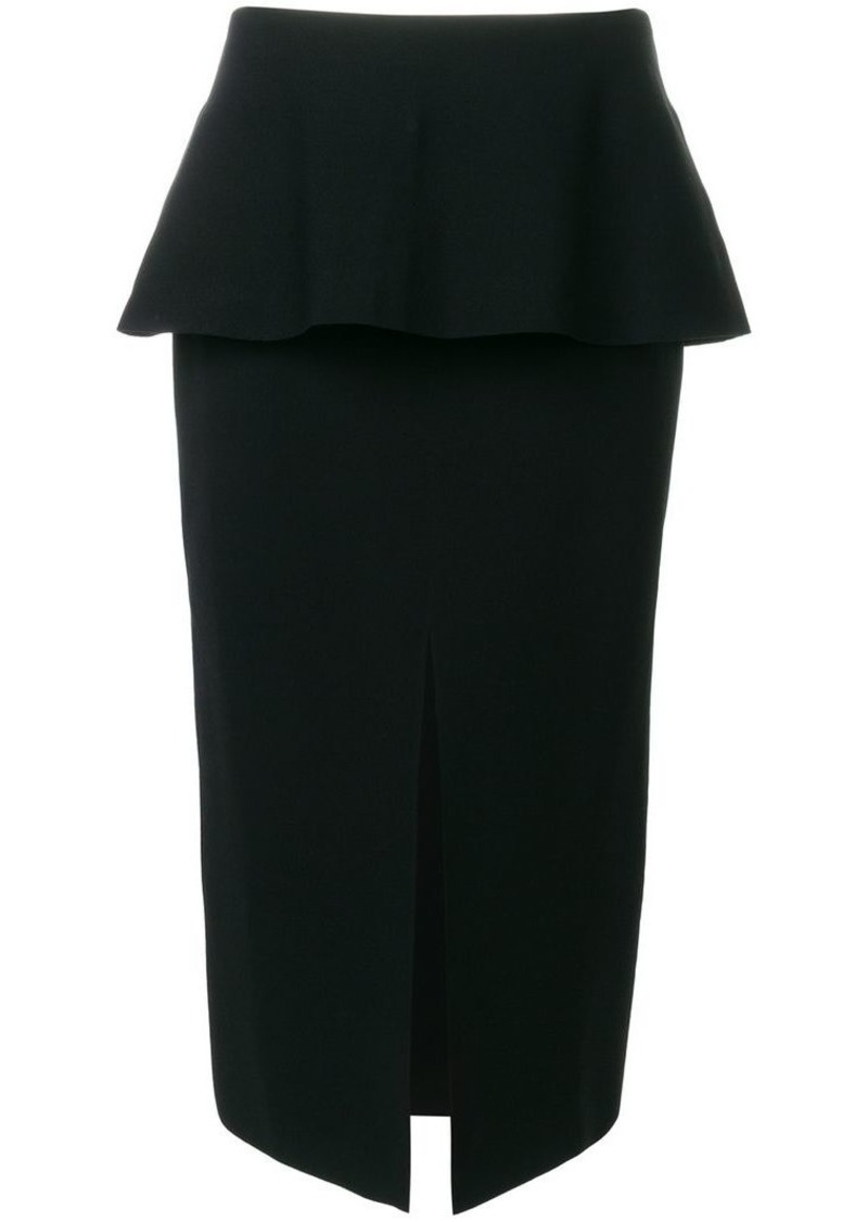 Proenza Schouler front-slit pencil skirt