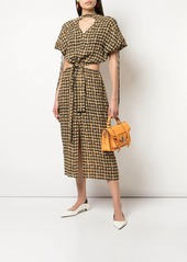 Proenza Schouler gingham cut-out dress