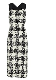 Proenza Schouler Gingham Jacquard Knit Midi Dress