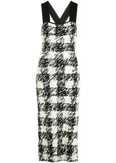 Proenza Schouler gingham pattern knit dress